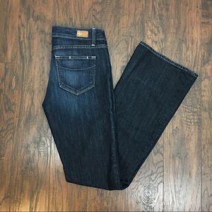 Paige Laurel Canyon Dark Wash Boot Cut Size 28.
